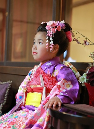 鎌倉七五三7歳日本髪写真回廊スタジオ