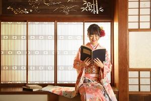 鎌倉成人式 着物写真 振袖写真