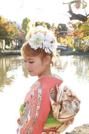 鶴岡八幡宮成人振袖写真5