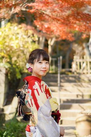 鎌倉 成人式前撮り 紅葉ロケーションフォト(1)