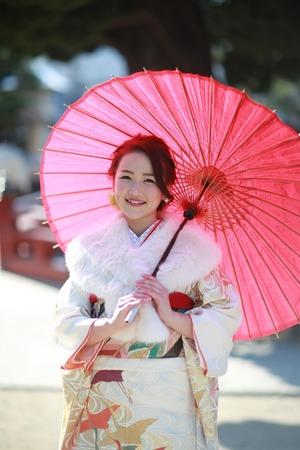 鎌倉成人振袖ロケーション写真1