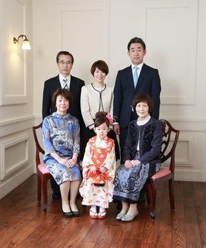鎌倉七五三家族写真