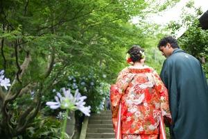 婚礼前撮りロケーション 鎌倉竹林ロケ