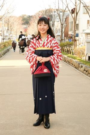 鎌倉小学生卒業袴女児20