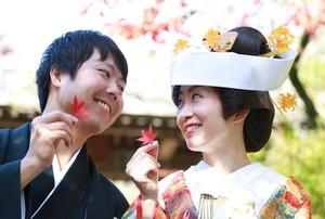 鎌倉紅葉婚礼前撮り写真海蔵寺