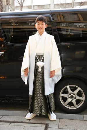 鎌倉小学生卒業袴男児4