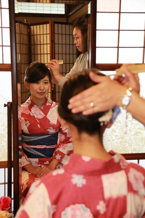 鎌倉浴衣ヘア&髪飾り