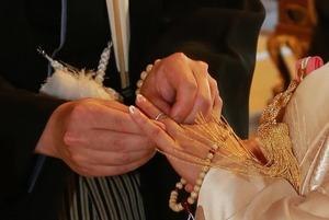 円覚寺結婚式指輪交換