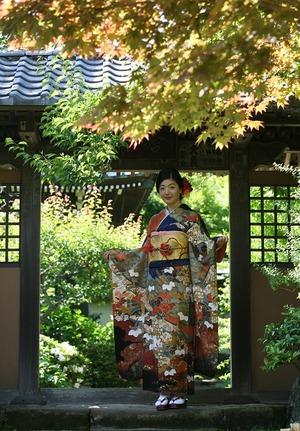 振袖前撮りロケーション撮影海蔵寺
