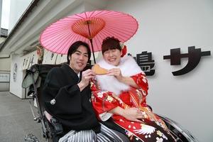 鎌倉婚礼人力車ロケーション撮影