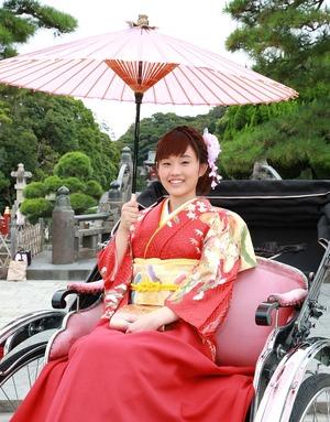 成人式屋外撮影 人力車ロケーション写真 前撮り 鎌倉