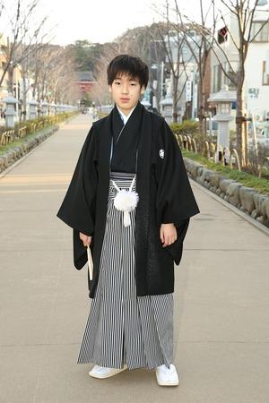 鎌倉小学生卒業袴男児10