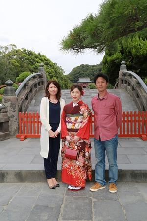 鶴岡八幡宮成人式振袖写真2