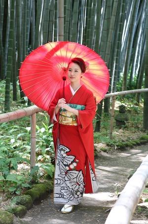 鎌倉成人式振袖ロケーション竹林