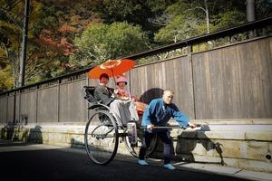 鎌倉婚礼前撮り人力車ロケーションフォト
