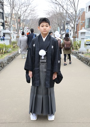 鎌倉 小学生男子 卒業袴 写真22