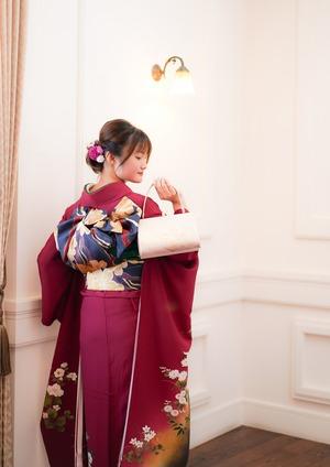 鎌倉 成人式前撮り 帯結び
