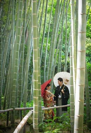 鎌倉婚礼和装前撮り