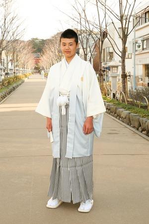 鎌倉小学生卒業袴男児15