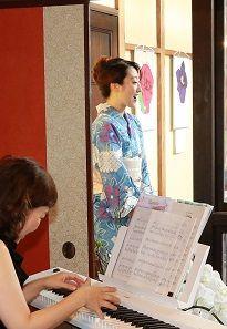 岡田みみさんミニコンサート鎌倉着物スタジオ
