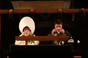 鶴岡八幡宮幸あかり結婚式親族固めの儀写真