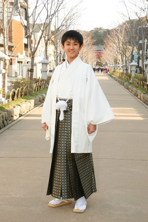 鎌倉小学生卒業袴男児16