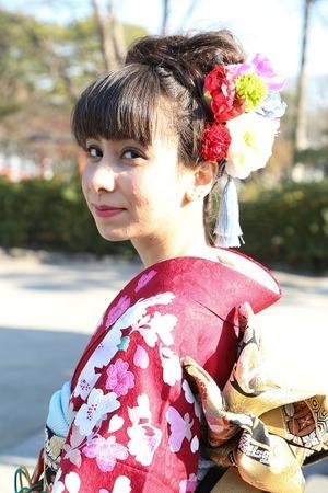 鎌倉成人式 屋外撮影 振袖