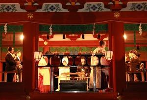 鶴岡八幡宮幸あかり結婚式親族固めの儀集合写真