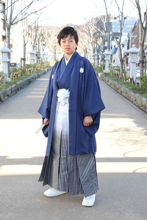 鎌倉小学生卒業袴 男児  (1)