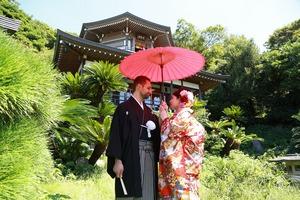 光明寺フォトウェディング日本庭園