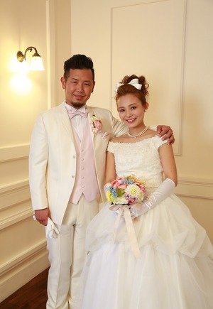 鎌倉着物スタジオ結婚式洋装写真