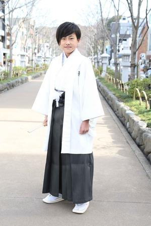 鎌倉小学生卒業袴 男児  (9)
