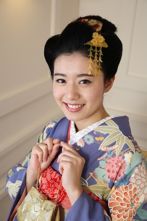 成人式前撮り撮影日本髪
