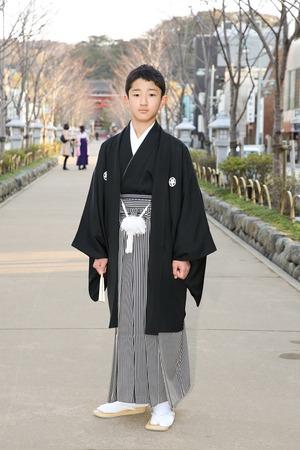 鎌倉小学生卒業袴男児8