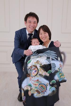 お宮参り 鎌倉家族写真 記念写真