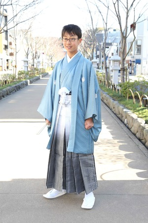 鎌倉小学生卒業袴 男児  (4)