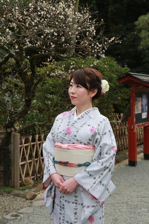 鎌倉着物散策八幡宮 (1)