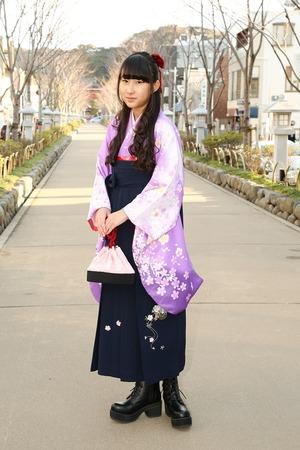 鎌倉小学生卒業袴女児13