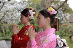 鎌倉 ロケーション撮影 振袖 成人式 英勝寺 竹林