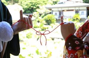 光明寺フォトウェディング 赤い糸