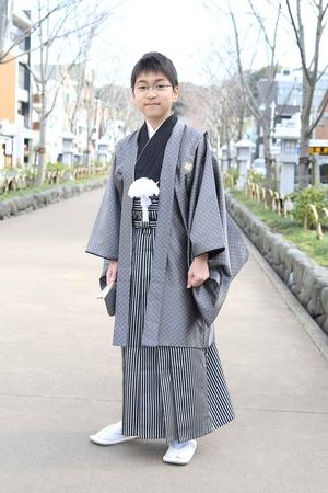 鎌倉小学生卒業袴 男児  (10)