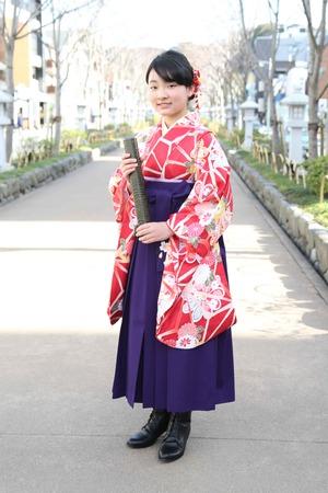 鎌倉小学生卒業袴 女児 (13)