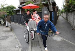 鎌倉婚礼人力車ロケーション写真