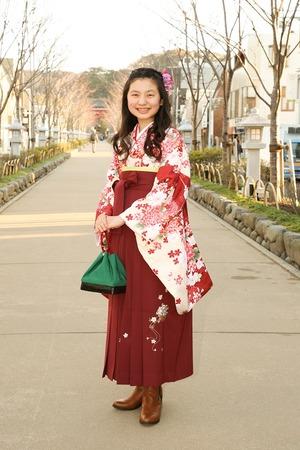 鎌倉小学生卒業袴女児7