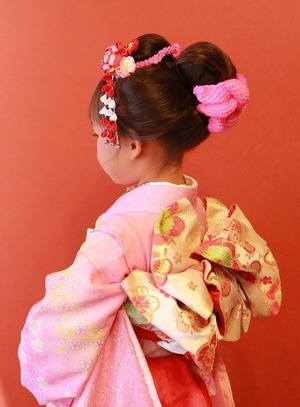 鎌倉七五三7歳帯結び立て矢系
