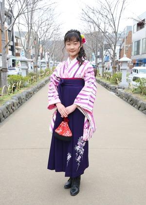 鎌倉 小学生卒業袴レンタル12
