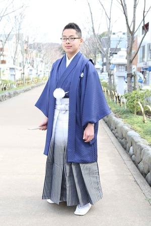 鎌倉小学生卒業袴 男児  (12)