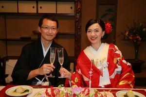 鎌倉結婚式幻董庵披露宴写真