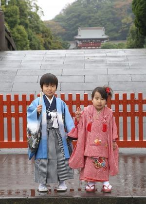 鶴岡八幡宮七五三写真 (2)