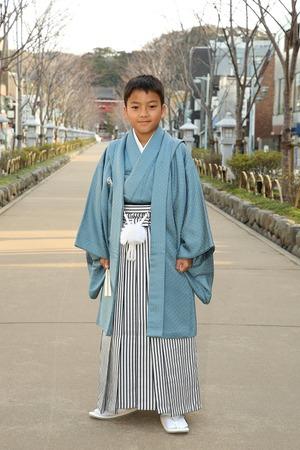 鎌倉小学生卒業袴男児13